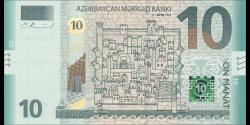 Azerbaïdjan - p33a- 10 Manat - 2018 - Azərbaycan Mәrkәzi Bankı