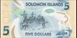 Salomon - p38 - 5 Dollars - 2019 - Central Bank of Solomon Islands