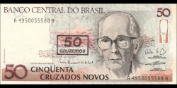 Brésil - p223 - 50 Cruzeiros - ND (1990) - Banco Central do Brasil