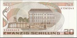 Autriche - p148 - 20 Schilling - 01.10.1986 - Oesterreichische Nationalbank