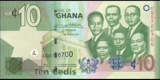 Ghana - p39g - 10 cedis - 04.08.2017 - Bank of Ghana