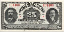 Mexique - ps1069 - 25 Centavos - 01.01.1915 -Estado de Sonora, Hermosillo