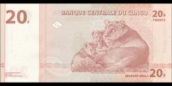 Congo - RD - p088A - 20 francs - 01.11.1997 - Banque Centrale du Congo