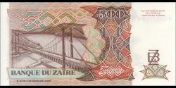 Zaire - p34a - 500 Zaïres - 24.6.1989 - Banque du Zaïre