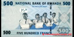 Rwanda - p38 - 500 Francs - 01.01.2013 - Banque Nationale du Rwanda / National Bank of Rwanda