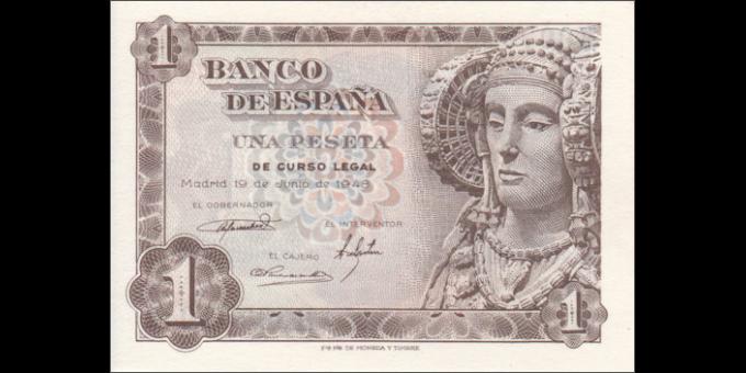 Espagne - p135 - 1Peseta - 19.06.1948 - Banco de España