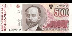 Argentine - p330(5) - 5.000 Australes - ND (1989-1991) - Banco Central de la República Argentina