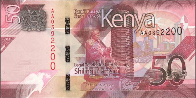 Kenya - pNew - 50 shilingi - 2019 - Banki Kuu ya Kenya / Central Bank of Kenya