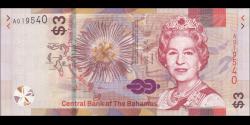 Bahamas - pNew - 3 Dollars - 2019 - Central Bank of the Bahamas