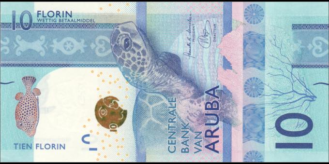 Aruba - p21 - 10 Florin - 01.01.2019 - Centrale Bank van Aruba