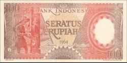 Indonésie - p097 - 100Roupies - 1964 - Bank Indonesia