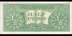 Philippines - p132a1 - 0,5 Peso - 1949 - Central Bank of the Philippines