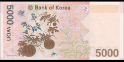 Corée du Sud - p55 - 5.000 Won - ND (2006) - Bank of Korea