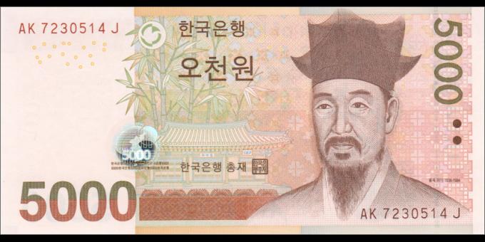 Corée du Sud - p55 - 5.000 Won - ND (2006) - Bank of Korea