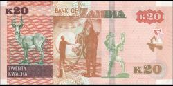 Zambie - p59b - 20 Kwacha - 2018 - Bank of Zambia