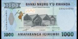 Rwanda - p39b - 1000 Francs - 01.02.2019 - Banki Nasiyonali y'u Rwanda / National Bank of Rwanda