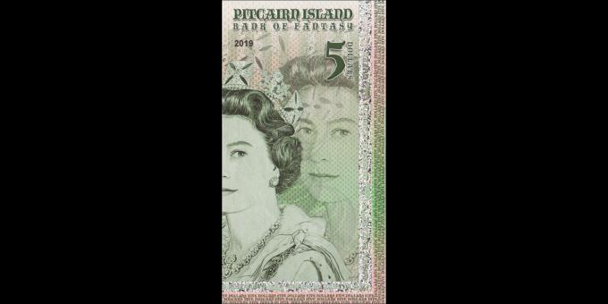 Iles Pitcairn - pNL005 - 5 dollars - 2019 - Bank of Fantasy