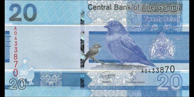 Gambie - p39 - 20dalasis - 2019 - Central Bank of The Gambia