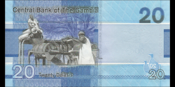 Gambie - p39 - 20 dalasis - 2019 - Central Bank of The Gambia