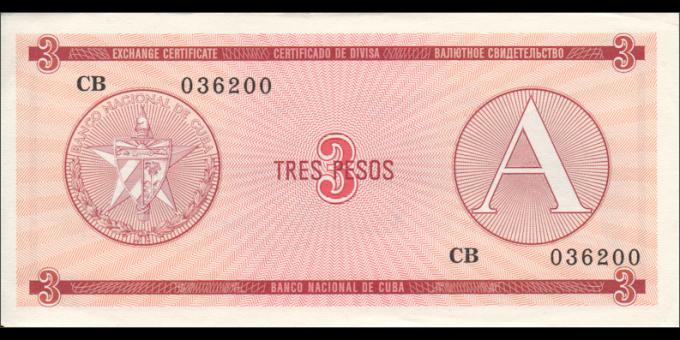 Cuba - pFX02 - 3Pesos - ND (1985) - Banco Nacional de Cuba