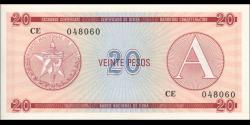 Cuba - pFX05 - 20Pesos - ND (1985) - Banco Nacional de Cuba