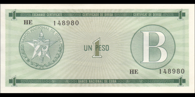 Cuba - pFX06 - 1Peso - ND (1985) - Banco Nacional de Cuba