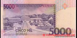 São Tomé-et-Príncipe - p65b - 5.000 Dobras - 26.08.2004 - Banco Central de S. Tomé e Príncipe