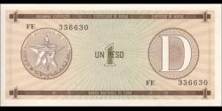 Cuba - pFX32 - 1 Peso - ND (1991) - Banco Nacional de Cuba