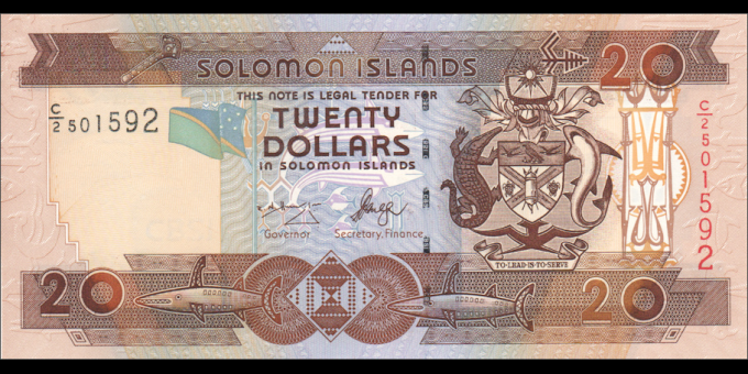 Salomon - p28a - 20 Dollars - ND (2004) - Central Bank of Solomon Islands