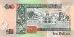 Belize - p68e - 10 Dollars - 01.05.2016 - Central Bank of Belize