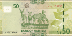 Namibie - p13b - 50 dollars - 2016 - Bank of Namibia