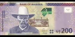 Namibie - p15c - 200 dollars - 2018 - Bank of Namibia