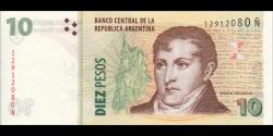 Argentine - p354b- 10 Pesos - ND (2003) - Banco Central de la República Argentina