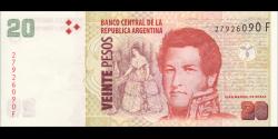 Argentine - p355c - 20 Pesos - ND (2003) - Banco Central de la República Argentina