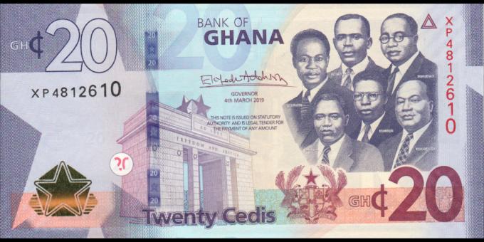 Ghana - pnew - 20 cedis - 04.03.2019 - Bank of Ghana