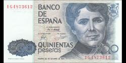 Espagne - p157 - 500 Pesetas - 1979 - Banco de España