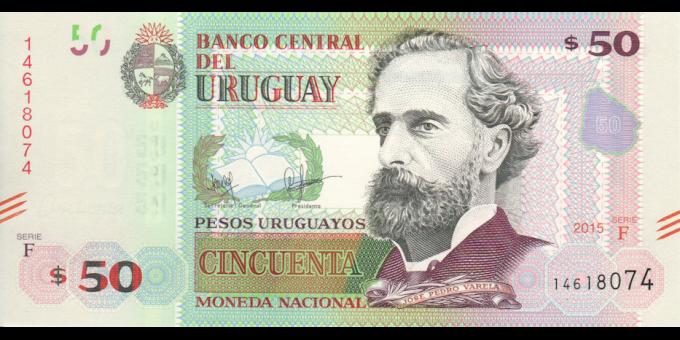 Uruguay - p94 - 50 Pesos Uruguayos - 2015 - Banco Central del Uruguay