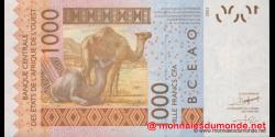 Sénégal - p715Knew - 1.000 Francs - 2010 - Banque Centrale des États de l'Afrique de l'Ouest