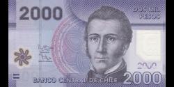 Chili - p162e - 2000 Pesos - 2015 - Banco Central de Chile