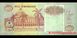 angola - p129c - 1000 kwanzas - 04.02.1991 - Banco Nacional de Angola