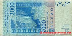Sénégal - p716Kb - 2.000 Francs - 2004 - Banque Centrale des États de l'Afrique de l'Ouest
