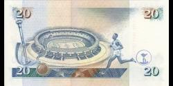 Kenya - p32 - 20 shilingi - 01.07.1995 - Banki Kuu ya Kenya / Central Bank of Kenya