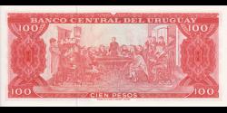 Uruguay - p47i - 100 Pesos - ND (1967) - Banco Central del Uruguay