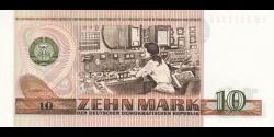 République - Démocratique - Allemagne - p28b - 10 Mark der DDR - 1971 - Staatsbank der DDR