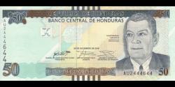 Honduras - p104 - 50 Lempiras - 28.12.2016 - Banco Central de Honduras