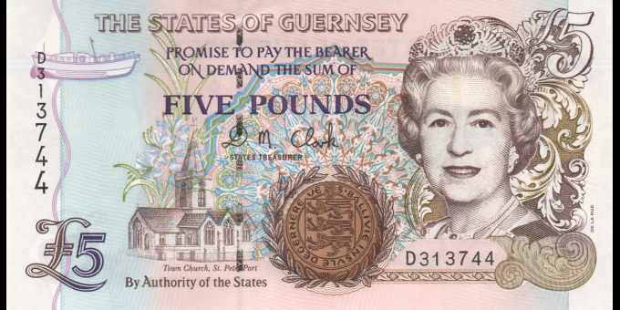 Guernesey - p56b - 5 Pounds - ND (2000) - States Treasurer of The States of Guernsey