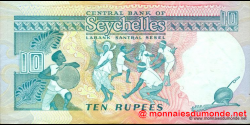 Seychelles - p32 - 10 Roupies - ND (1989) - Central Bank of Seychelles / Labank Santral Sesel