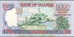 Ouganda - p44b - 5.000 Shillings - 2005 - Bank of Uganda
