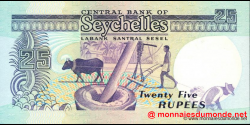 Seychelles - p33 - 25 Roupies - ND (1989) - Central Bank of Seychelles / Labank Santral Sesel
