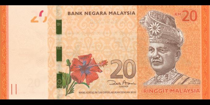 Malaisie - p54a - 20 Ringgit - ND (2011) - Bank Negara Malaysia